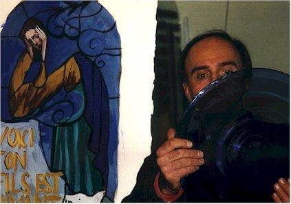 Pierre-Alain PAROT / coloration avec des cives pour GAROUSTE