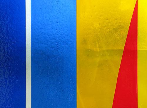 Fusing pour Geneviève ASSE et O. DEBRE / Collégiale de Lambale (60x80cm)