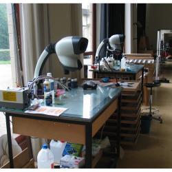 matériel de laboratoire pour la restauration